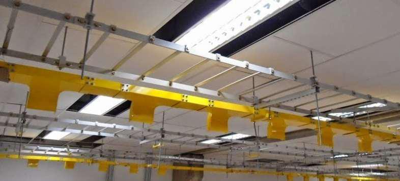 Esteira metálica para cabos elétricos