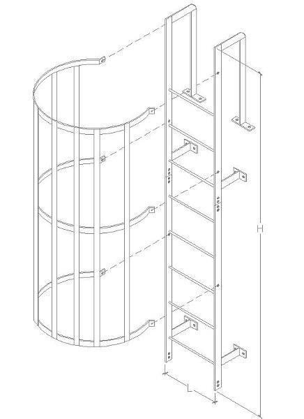 Fabricação de escadas metálicas