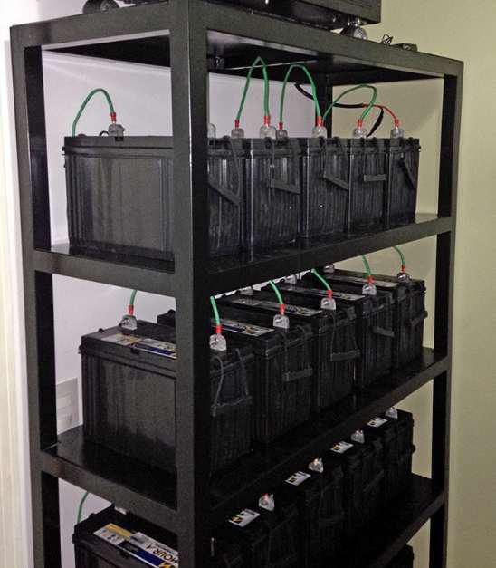 Banco de baterias para telecomunicações