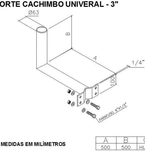 SUPORTE CACHIMBO UNIV.