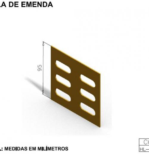 CALHAS FIBRA ÓPTICA - TALA DE EMENDA