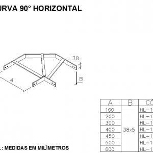 CURVA 90 HORIZONTAL