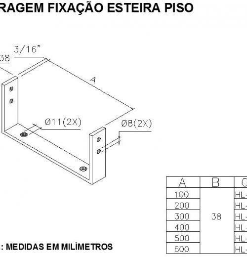 FERRAGEM FIXAÇÃO ESTEIRA PISO