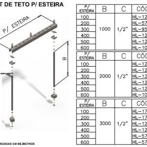 Kit de teto para Esteira