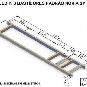 SKEED PARA 3 BASTIDORES PADRÃO NOKIA