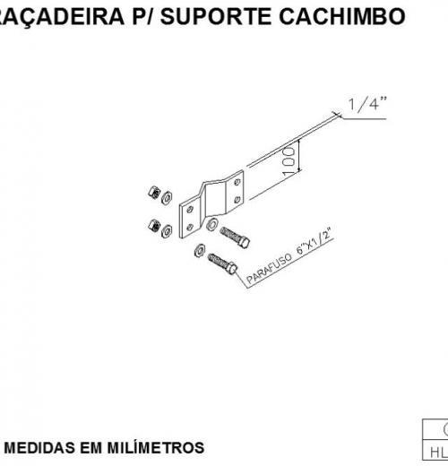 ABRAÇADEIRA PARA SUPORTE CACHIMBO