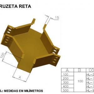 CALHAS FIBRA ÓPTICA - CRUZETA RETA