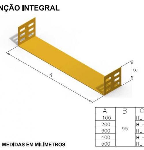 CALHAS FIBRA ÓPTICA - JUNÇÃO INTEGRAL