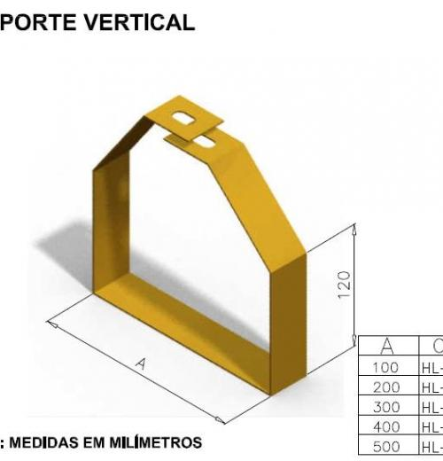 CALHAS FIBRA ÓPTICA - SUPORTE VERTICAL