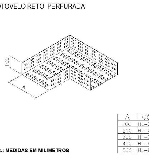 ELETROCALHAS E ACESSÓRIOS -  COTOVELO RETO  PERFURADA
