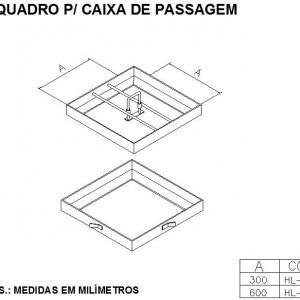REQUADRO PARA CAIXA DE PASSAGEM